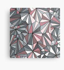 Urban Geometric Pattern - Dark Grey and Pink Metal Print
