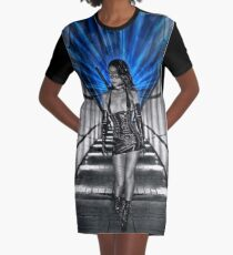 La Femme Kunoichi Graphic T-Shirt Dress