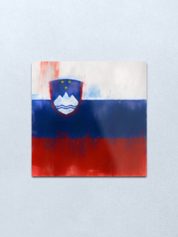 Alternate view of Slovenia Flag Reworked No. 1, Series 1 Metal Print