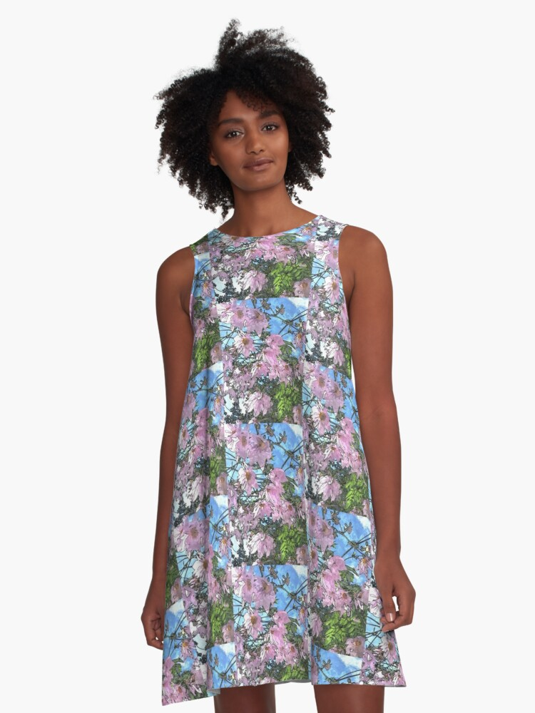 Flowers  A-Line Dress Front