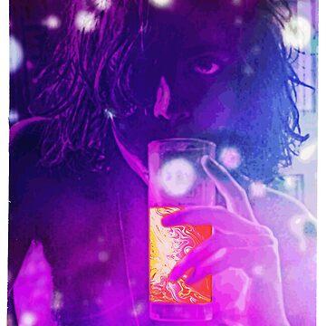 Syd Barrett enjoying a beverage by fuskanora