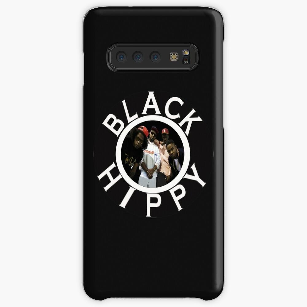 Schwarze Hippie Hülle & Klebefolie für Samsung Galaxy