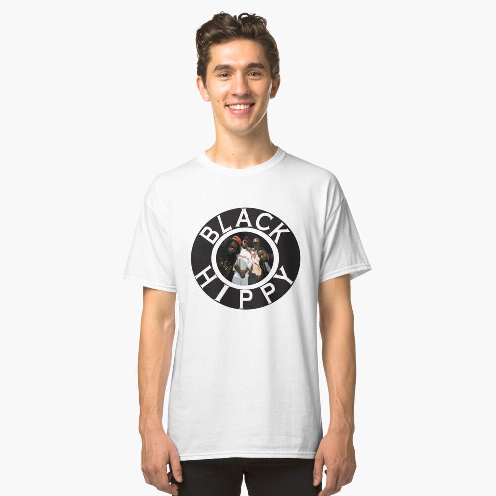 Schwarze Hippie Classic T-Shirt