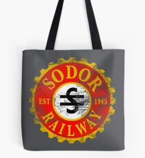 Sodor Railway Logo - Distressed Tote Bag