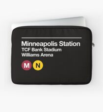Minneapolis (Univ. of Minnesota) Sports Venue Subway Sign Laptop Sleeve