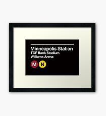 Minneapolis (Univ. of Minnesota) Sports Venue Subway Sign Framed Print