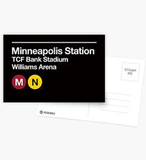 Minneapolis (Univ. of Minnesota) Sports Venue Subway Sign Postcards