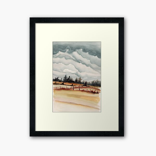 western oregon landscape Framed Art Print