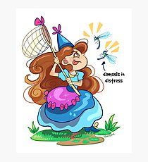 Damsels in Distress - Light background Photographic Print