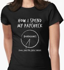 How I Spend My Paycheck - Board Games Women's Fitted T-Shirt