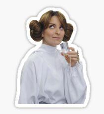 Liz Lemon Princess Leia Sticker