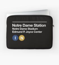 Notre Dame Sports Venues Subway Sign Laptop Sleeve