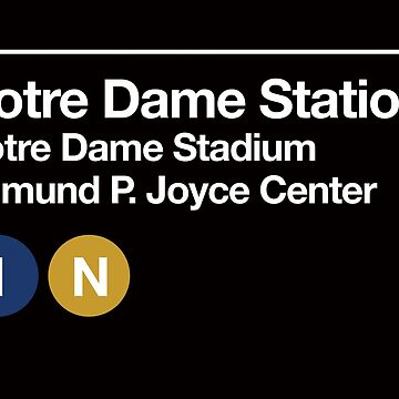 Notre Dame Sports Venues Subway Sign by phoneticwear