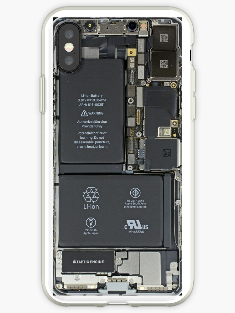 newest 559a9 ce839 'iphone x internals ' iPhone Case by GuyBergman