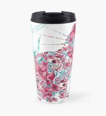 Floral Cat  Travel Mug
