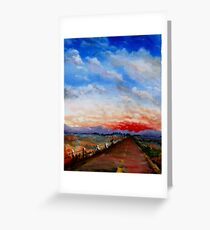 red highway Greeting Card