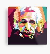 Colorful Einstein Metal Print