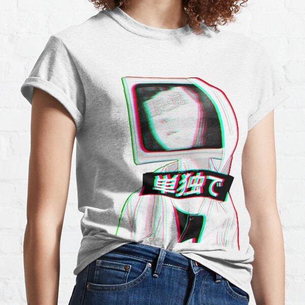 TV HEAD - Sad Japanese Aesthetic Classic T-Shirt
