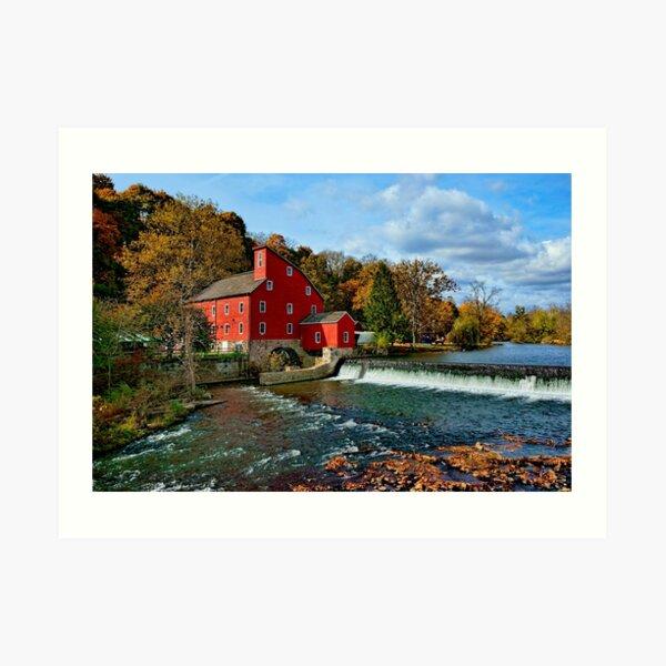 The Historic Red Mill of Clinton NJ Art Print