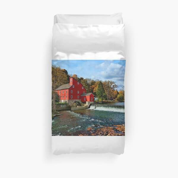 The Historic Red Mill of Clinton NJ Duvet Cover