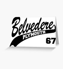67 Plymouth Belvedere Greeting Card