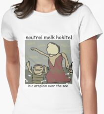 Neutral Meme Hotel Women's Fitted T-Shirt