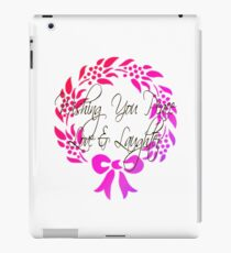 Wishing you peace love and laughter iPad Case/Skin