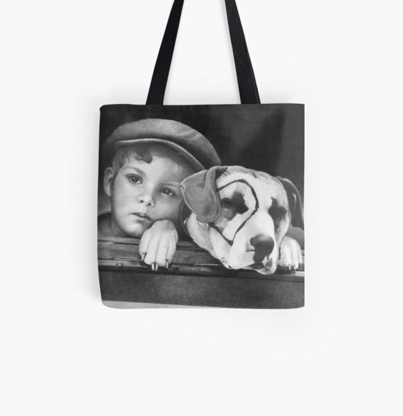 Dickey Moore and Petey All Over Print Tote Bag