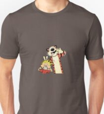 Calvin and Hobbes flex their muscles and stick out their tongue T-Shirt