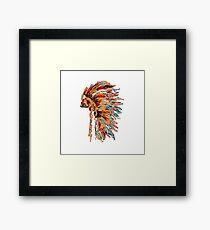 Chief war bonnet Framed Print