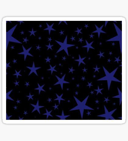NDVH Stars (blue on black) Sticker