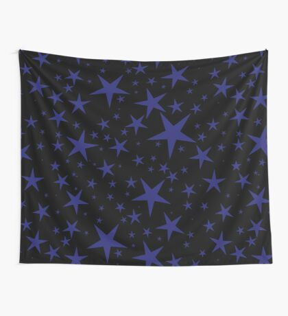 NDVH Stars (blue on black) Wall Tapestry