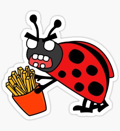 angry zombie ladybug  Sticker