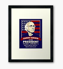 The Best Comedian Series Larry David Framed Print