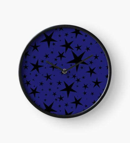 NDVH Stars (blue on black) Clock