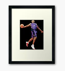 Vince Carter Dunk Contest Low Poly Framed Print