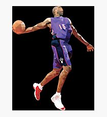 Vince Carter Dunk Contest Low Poly Photographic Print