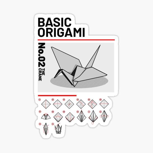 Basic Origami Instruction: Crane Sticker