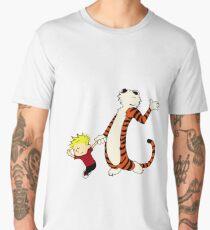 Calvin and Hobbes Dancing Pose Men's Premium T-Shirt