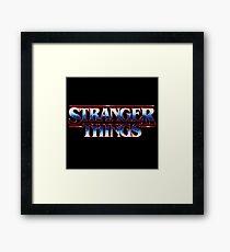 Stranger Things 80s Logo Framed Print