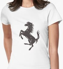 Ferarri Logo Merchandise Women's Fitted T-Shirt