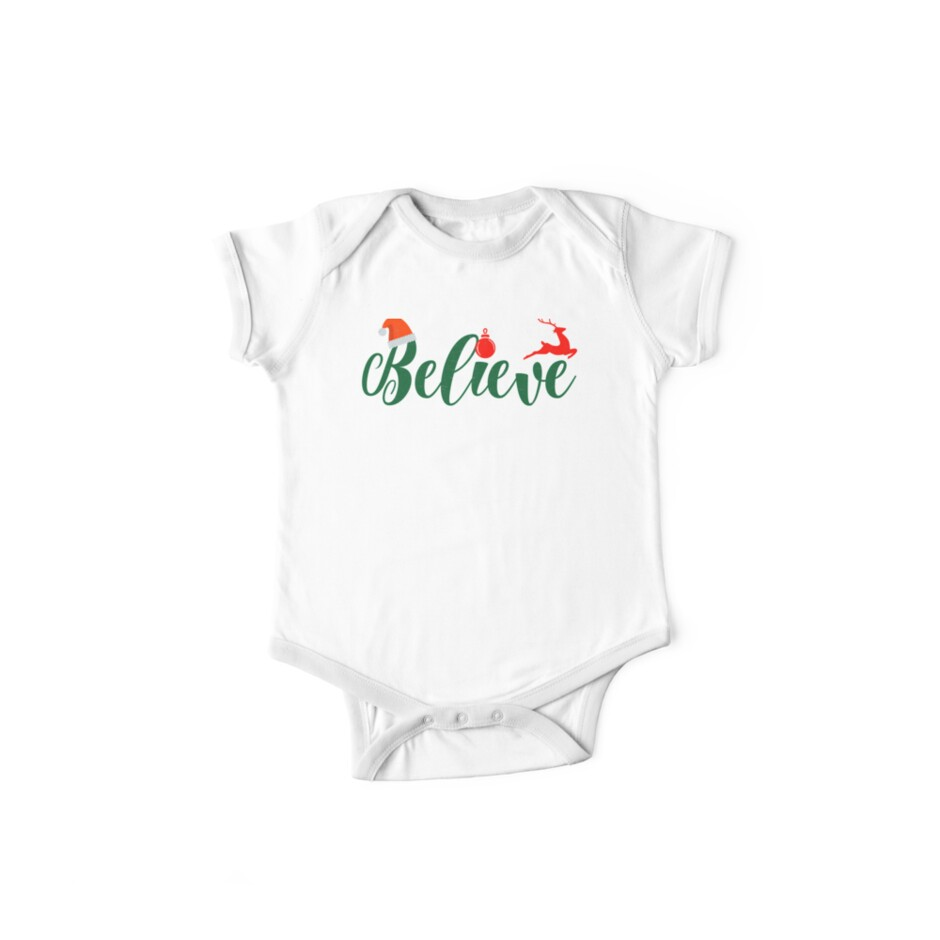 40565b72812fe 'Christmas Believe Shirt Xmas Night Holiday Quotes Gift Tee' Kids Clothes  by arnaldog