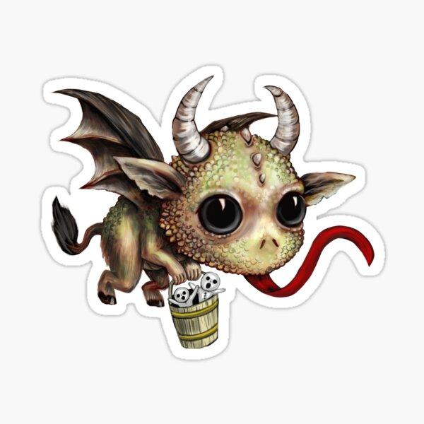 Krampus Dragon Sticker