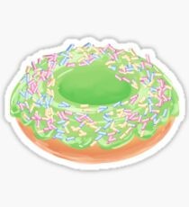 Matcha Donut with Rainbow Sprinkles  Sticker