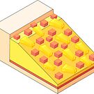 Isometric Hawaiian Pizza  by aidadaism