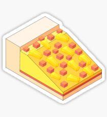 Isometric Hawaiian Pizza  Sticker