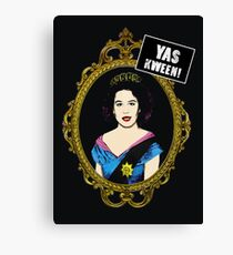 yas kween - broad city meets queen elisabeth 2 Canvas Print