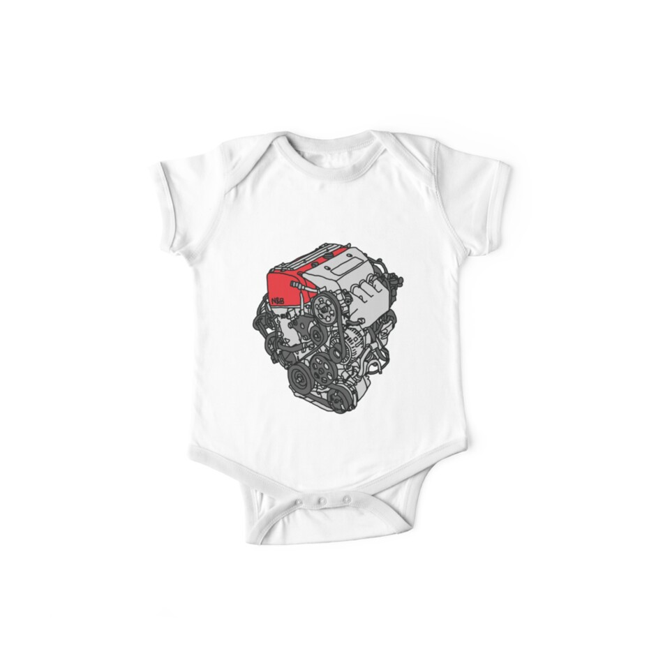 Honda Civic Type R Ep3 K20a Engine One Piece Short Sleeve By Nut