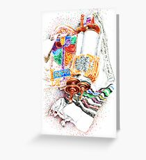 Closed Torah with Colorful Cover Greeting Card