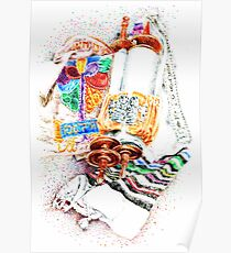 Closed Torah with Colorful Cover Poster